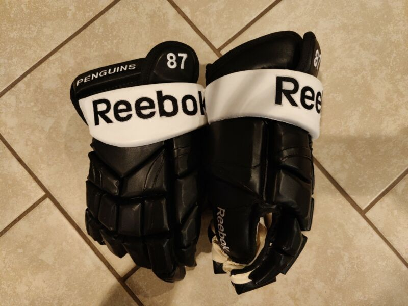 Pro Stock Sidney Crosby Reebok 10K Gloves Hockey Brand New Pittsburgh Penguins