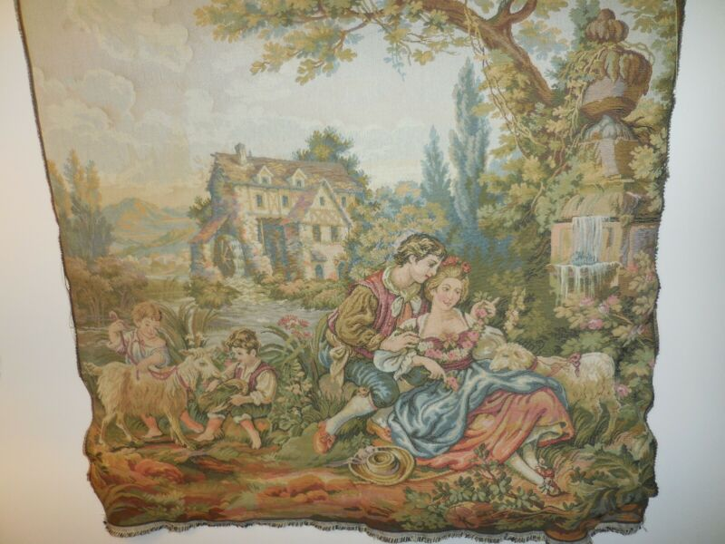 Romantic French Chateau Tapestry Woven Wall Hanging Home Decor Free Shipping