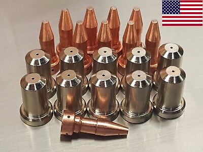 20pc 33366xl Electrodes 33368 30a Nozzles For Esab Pt-23 Pt-27 Plasma Cutter