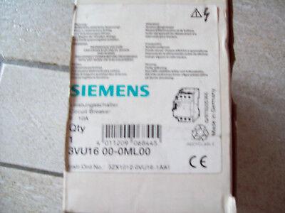 Siemens 3VU16 00-1ML00. Motorenschütz!! Nagelneu!! Schütz!!