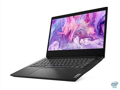 "Lenovo Ideapad 3 14"" HDLED Laptop Windows 10S 4GB RAM 128GB Black NEW & SEALED"