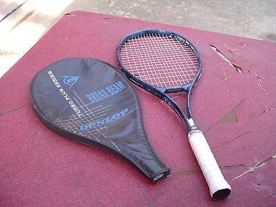 Dunlop Turbo Plus Broad Beam Series Graphite Tennis Racquet 4 3/8 w Pro Overwrap
