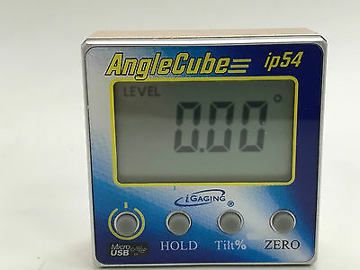 Rechargeable Igaging Angle Cube Digital Tilt Level Bevel Gauge Electronic