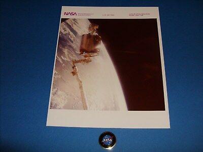 NASA 51-A SPACE SHUTTLE DISCOVERY WESTAR RETRIEVAL SERIAL # PHOTO
