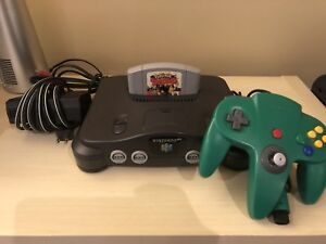 Nintendo 64 Console with Original Controller and Pokemon Snap