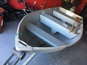 12' boat with Yamaha outboard and trailer