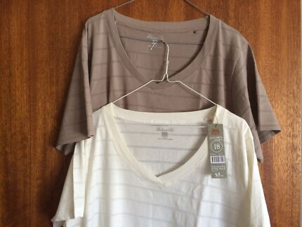 Women's cotton t-shirt off-white or grey brand new $5ea