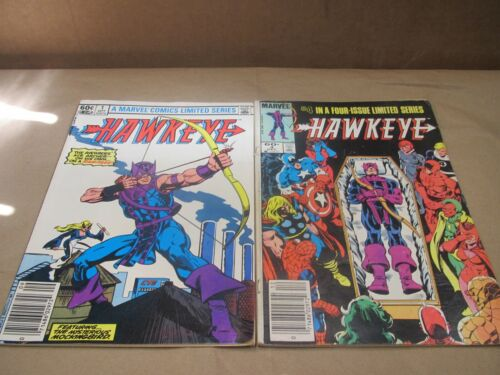 Hawkeye 1 & 4 LImited Series The Avengers Ace Archer on his own on a rampage