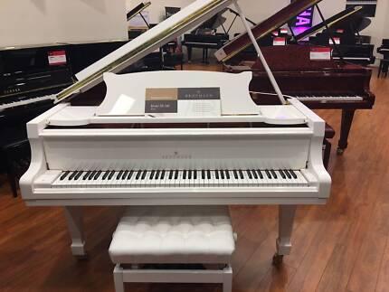 Brodmann PE-162 5.4ft  White Grand Piano