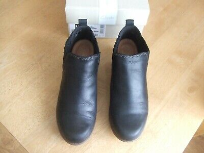 Boxed Clarks Wilrose Jade Women's Black Ankle Boots UK Size 5, EU 38, Fit D