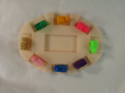 8 Mexican Train Engine Domino Ticket To Ride Game Markers W Oval Hub