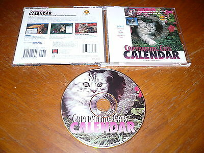 - Captivating Cats Calendar with Screen Saver PC CD-ROM Cedco 1996 for Windows 95