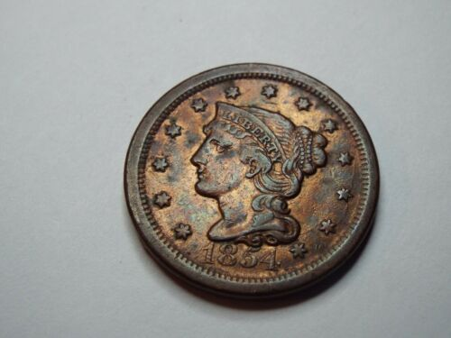 1854 LIBERTY HEAD LARGE CENT