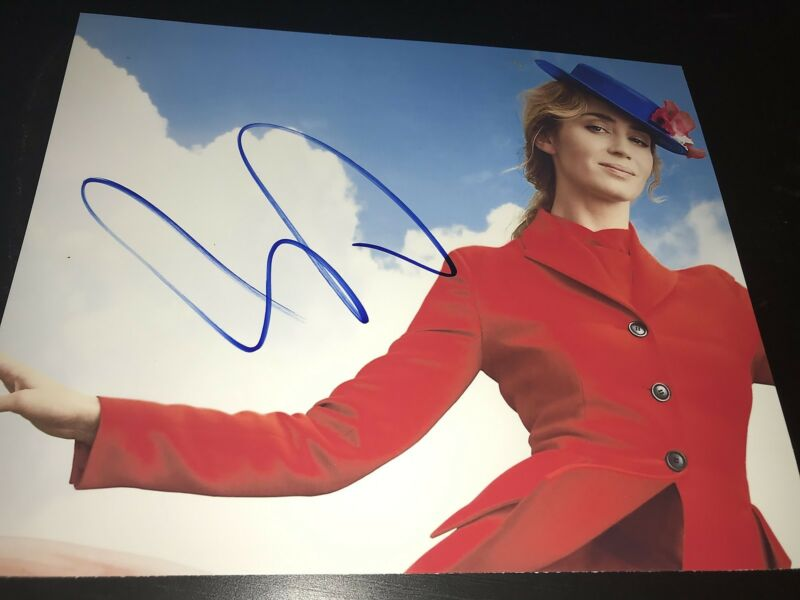 EMILY BLUNT SIGNED AUTOGRAPH 8x10 PHOTO MARY POPPINS IN PERSON COA AUTO RARE D