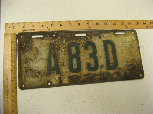 1923 23 NEW HAMPSHIRE NH DEALER CAR LICENSE PLATE A83D