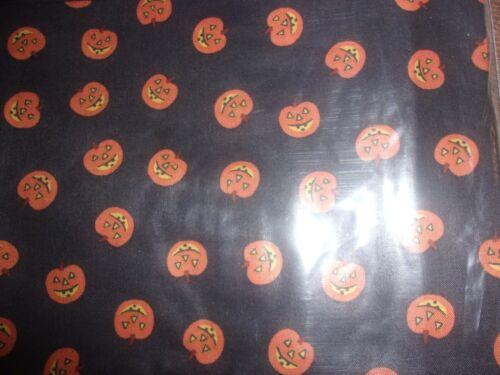 Longaberger Thyme Booking Basket Liner -  Black w/Orange Pumpkin Faces