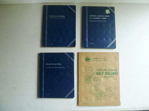 vintage coin books, empty, lot of 4, Whitman blue, Western album