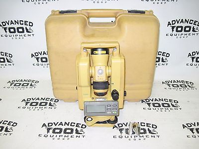 Topcon Dt-209l Optical Digital Theodolite W Laser And Carrying Case Dt-200