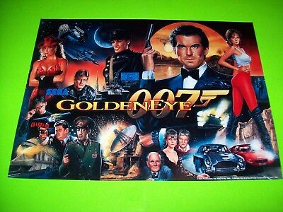 GOLDEN EYE 007 James Bond Original Pinball Machine Translite Artwork DINGS As Is