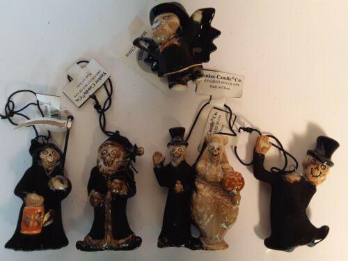 Yankee Candle  HTF 5 Pc. 2011 Boney Bunch Halloween Ornaments