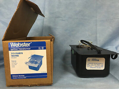 Webster Ignition Transformer 313-25ab78 Wayne Model E
