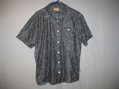 HTF Howler Brothers Constellation Button Down Shirt Black Medium Stars Night Sky