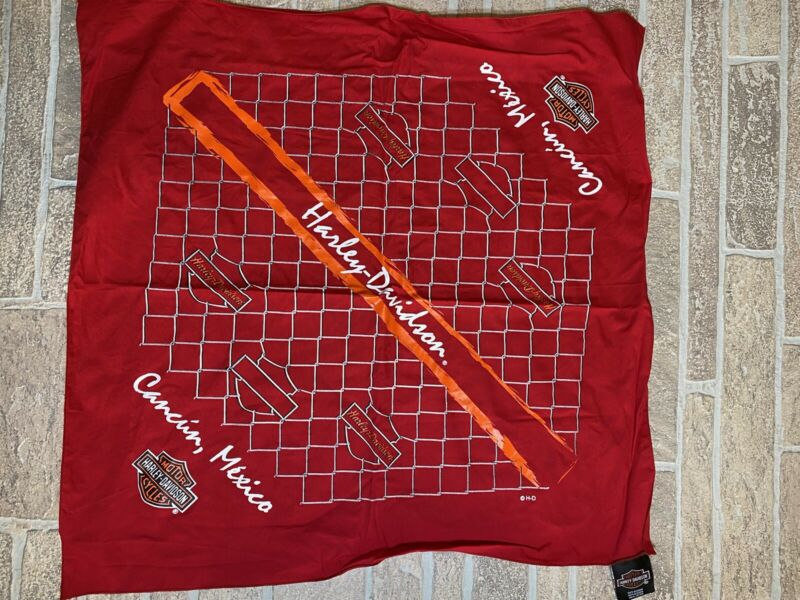 Harley Davidson Cancun Mexico Red Bandana