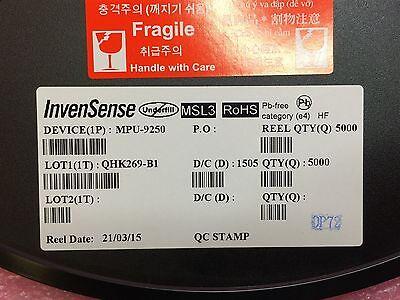 Mpu 9250 Invensense Gyro Accel Compass 9 Axis Rohs 10 Pieces