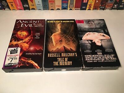 1990's Mummy Horror VHS Lot of 3 Ancient Evil The Eternal Tale Of The Mummy