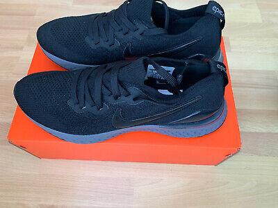 Nike Epic React Flyknit 2 Black UK 8 US 9 EU 42.5 BQ8928-001 Brand New DS