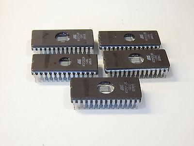 Atmel At27c512r-12dc Eprom 64k X 8 28 Pin Ceramic Dip - You Get 5 Pieces