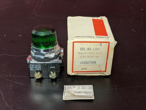 Eaton Cutler Hammer 10250T34G Green Indicating Pilot Light NIB