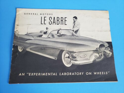 1951 GM Buick LeSabre Brochure Experimental Concept Car Lab on Wheels Original