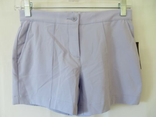 Slazenger Girls Golf Shorts Adjustable Waist Icy Purple Size M (12)  #0166