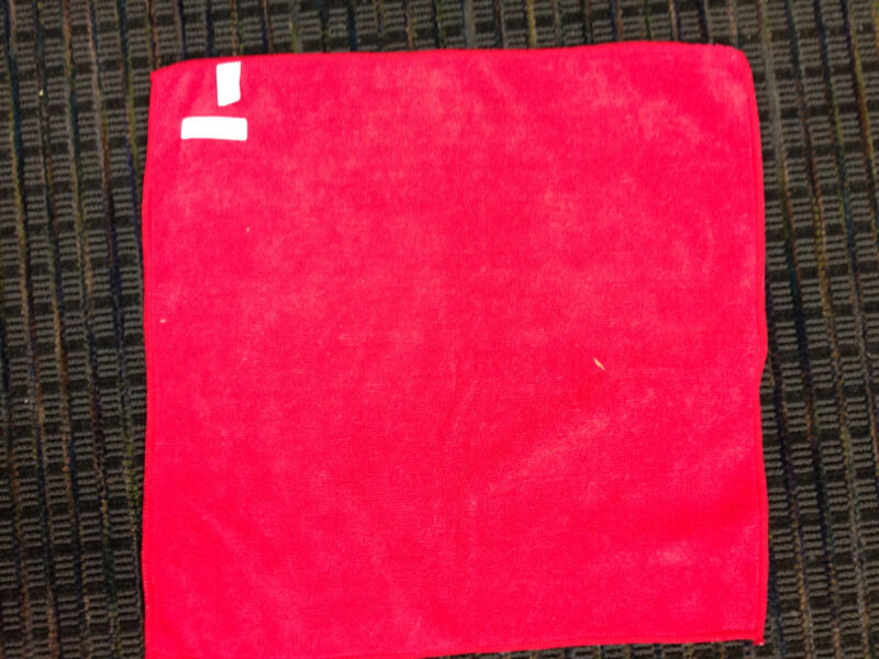"Microfiber Towels 16"" X 16"" Color Red"