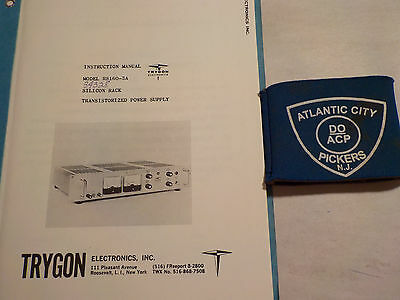 Trygon Rs160-3a Silicon Rack Transitioned Power Supply Instruction Manual