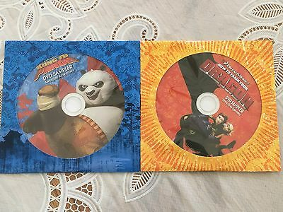 2 Dreamworks DVD Samplers Kung Fu Panda How to Train Your Dragon GM NEW