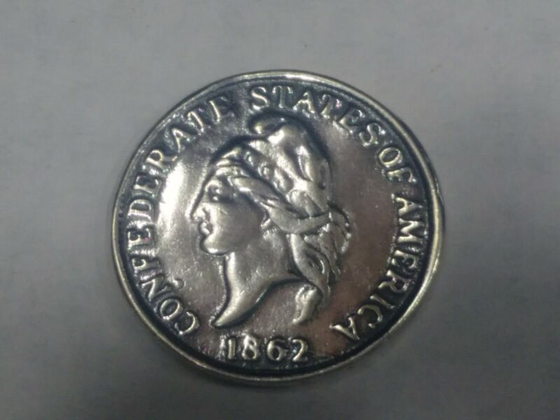 Fantacy Confederate Sterling Silver 50 Cents Coin
