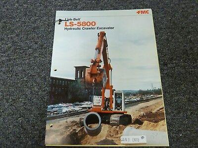 Link-belt Ls-5800 Crawler Excavator Specifications Working Ranges Manual