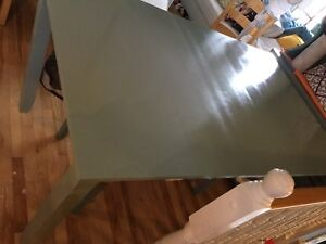 Nautical green dining table with 6 chairs
