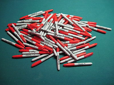 110 Bulk Red New Sharpie Fine Point Markers Sharpies Free Shipping