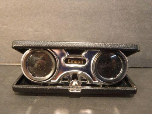 Emson Collapsible Mini Binoculars Opera Sports Glasses Instant Focus Collectible