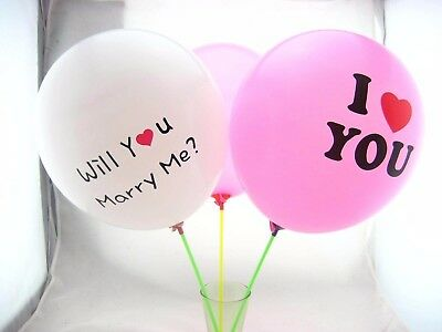 100Pcs 12in I Love You Marry Me Proposal Heart Love Round Latex Balloon Prop - Marry Me Balloons