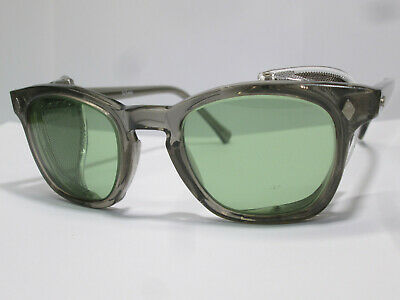 Hoya Sunglasses Wire Mesh Shields Classic Steampunk AO 2.0 Green Glass 46 (Green Hipster Glasses)