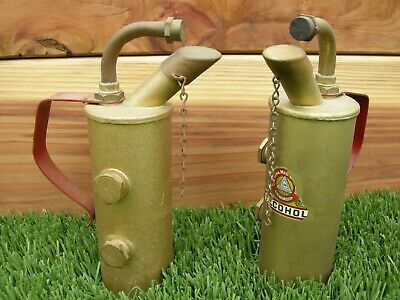Vintage 2 Old Alcohol Brass Blow Torch Link Products Decal Red Handle Blowtorch