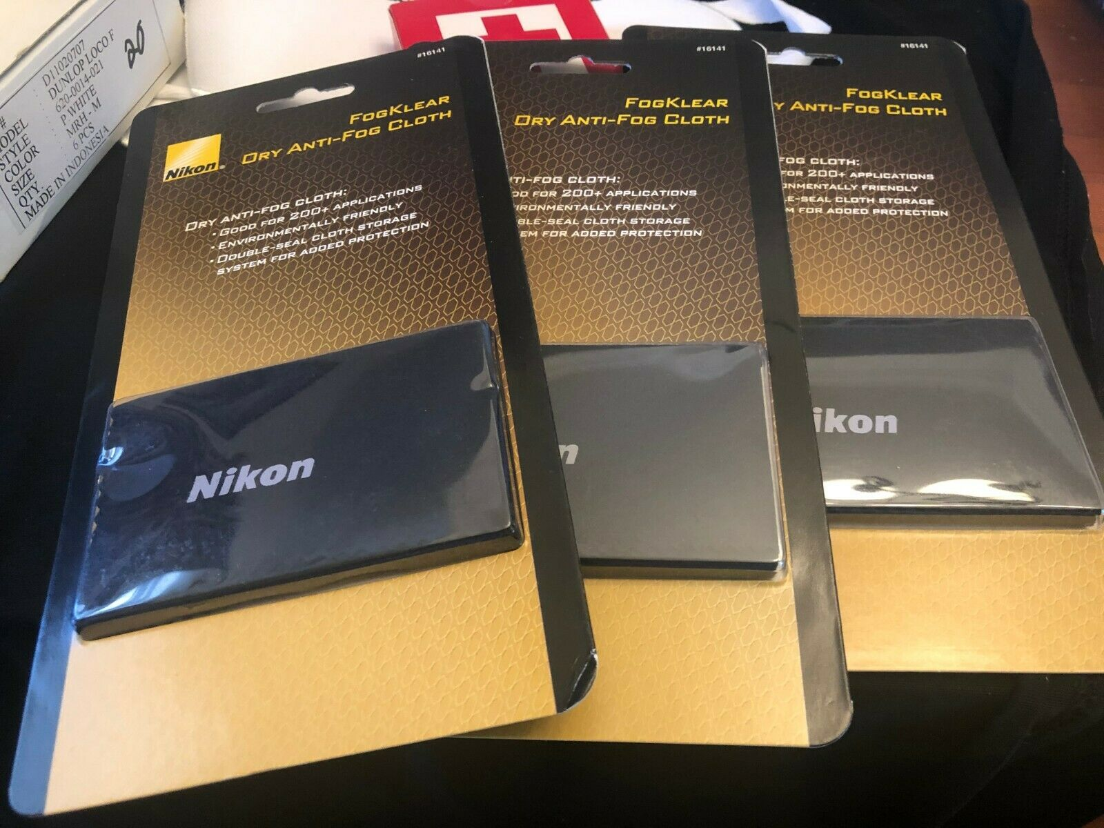 LOT OF 3 NIKON FOGKLEAR DRY ANTI-FOG CLOTH FOR CAMERAS NEW - $16.59