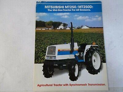 Mitsubishi Mt250 Mt250d Tractor Brochure