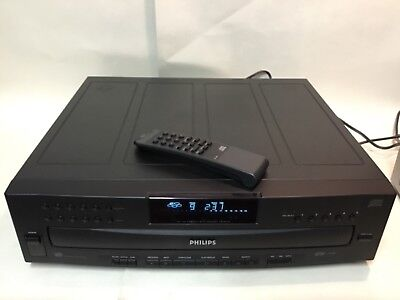 PHILIPS CDC 745 CD Carousel changer + Remote Control + cables TESTED & WORKING