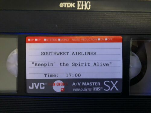 Vtg Southwest Airlines Promotional Promo VHS tape collectible advertising