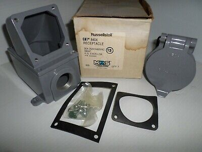 New Russellstoll 8404 Ever-lok Receptacle 30a 250v480vac 3w 4p Thomas Betts